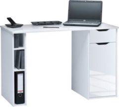 Maja Schreib- und Computertisch Enns, ca. 115x75x50 cm, weiß-glänzend/icy-weiß