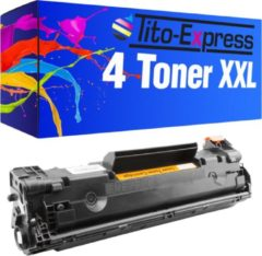 Tito-Express PlatinumSerie PlatinumSerie® 4 toner XL Zwart voor HP CE285A 85 bis M 1130 Series / M 1132 MFP / M 1134 MFP / M 1136 MFP / M 1137 MFP / M 1138 MFP / M 1139 MFP / M 1200 Series / M 1210 Series / M 1212 NF MFP / M 1213 NF MFP / M 1214 NFH MFP /