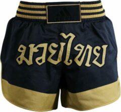 Adidas Kickboksbroek Zwart/goud Unisex Maat Xl
