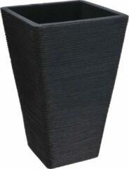 Nampook Bloempot Capri Vierkant 35 X 56 Cm Kunststof Zwart
