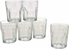 Gerim 18x Stuks waterglazen/drinkglazen transparant 256 ml - Glazen - Drinkglas/waterglas/tumblerglas