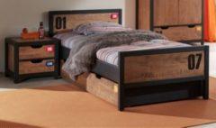 Vipack Furniture Vipack Einzelbett 90x200 cm Alex Kiefer gebürstet
