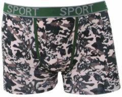 Bruine Uomo heren boxershort camouflage