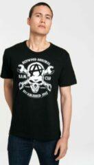 Zwarte Logoshirt Heren T-shirt Maat L