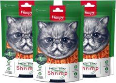 Wanpy | Freeze Dried Shrimp | Voordeelbundel van 3 zakjes | Kattensnack