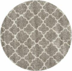 Grijze Safavieh Hedendaags Ronde Vloerkleed, SGH282