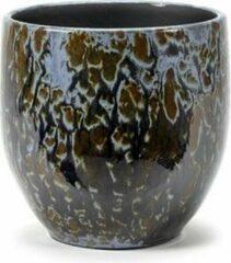 Serax Bloempot Wazig - Zwart Bruin Blauw D 20cm H 20 cm