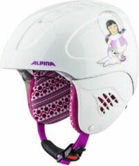 Witte Alpina Carat Junior Skihelm | 2019 | Eskimo Girl | Maat: 48 - 52 cm