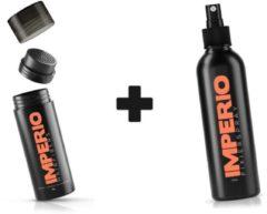 IMPERIO Bundel Haarvezels Zwart + Fixeerspray