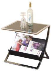 Möbel direkt online Moebel direkt online Beistelltisch Couchtisch Glastisch Tisch mit Ablagefach In 2 Farben lieferbar