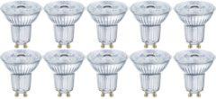 OSRAM LED-lamp Energielabel A+ (A++ - E) GU10 Reflector 4.3 W = 50 W Warmwit (Ã x l) 51 mm x 55 mm 10 stuk(s)