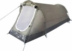 Donkergroene Mfh Tunneltent 220 X 130 X 100 Cm - Army/ Legergroen - 2 Persoons