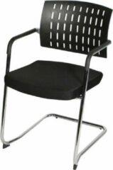 Zwarte RoomForTheNew Conferentiestoel 055- Vergaderstoel - Conferentiestoel - luxe stoel - stoel - vergaderen - eetkamerstoel - conferentie stoel - vergader stoel