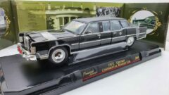 Lucky Die Cast Lincoln Continental Reagan Car Zwart 1972 1:24 LDC