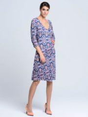 Kleid Alba Moda Blau/Orange/Weiß