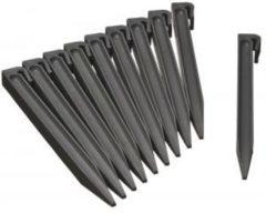 Nature Grondpennen voor borderranden grijs H26,7x1,9x1,8 cm set 10 stuks