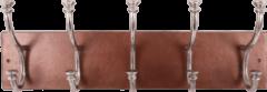 Collectione Landelijke Kapstok Lesina Rechthoek 71 cm Koper Met Ruw Nickel 5 Haaks