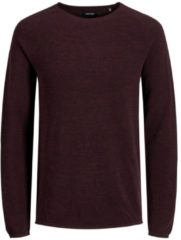 Bordeauxrode Jack & Jones Essential Hill Knit Crew Neck Heren