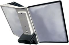 Grijze Durable Sherpa Table 10 uitbreidingsmodule voor ref. D563200: set van 10 zichtpanelen grijs/zwart