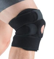 Zwarte Gymstick Verstelbare Kniebrace 2.0