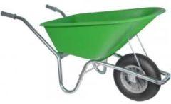 Kruiwagenwinkel.nl Kruiwagen verzinkt 100 liter lime groen - Binnenband
