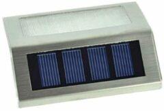 Zilveren Merkloos / Sans marque RVS Solar LED Buitenlampen Verlichting Trapverlichting