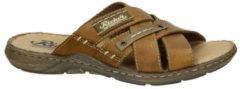 Rieker leren slippers bruin