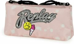 Etui Replay Girls pink - 10x21x6 cm Stationery Team Replay