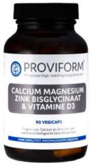 Proviform Calcium magnesium zink bisglycinaat & D3 90 Vegacaps