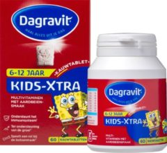 Dagravit Kids-Xtra 6-12 jaar Multivitaminen Voedingssupplement - 60 Kauwtabletten