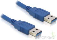 USB A naar USB A kabel - Tot 1 meter - Blauw - Delock
