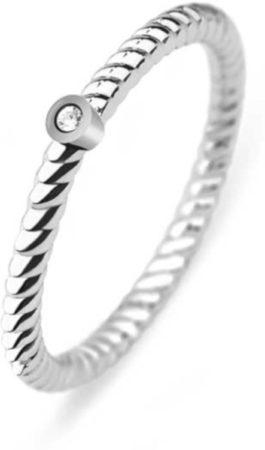Afbeelding van Paul Hewitt PH-FR-StRo-S Ring Rope North Star staal zilverkleurig Maat 54