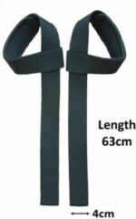 Petasos Powerlifting Straps - Deadlift straps - Polsbescherming lift straps - Lifting straps voor fitness - 2Stuks - Zwart