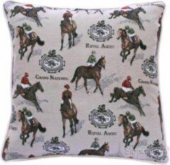 Bruine Signare Kussenhoes Paard Racing (Royal Ascot)| Paarden| Gobelinstof