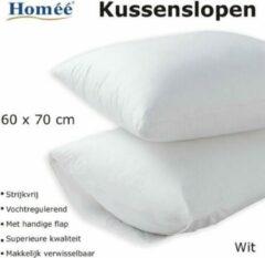 NoLizzz Kussenslopen Wit 100% Katoenen | set van 4 stuks | 60x70/17cm