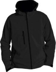 SOLS Heren Replay Hooded Soft Shell Jacket (ademend, winddicht en waterbestendig) (Zwart)