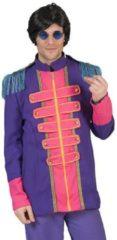 Funny Fashion Beatles Kostuum | Beatles Lonely Hearts Club Band Jas Paars Man | Maat 56-58 | Carnaval kostuum | Verkleedkleding