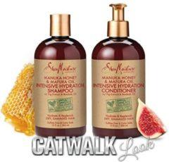 Shea Moisture SheaMoisture Manuka Honey & Mafura Oil Intensive Hydration Shampoo & Conditioner | Set of 2 | 13 fl. Oz. each