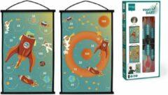 Scratch Active Play: START TO DART Ruimte 38x60cm, 2-zijdig bedrukt, met 6 darts