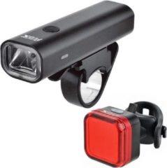 Rode Led fietsverlichtingsset - fietslampen koplamp en achterlicht USB Oplaadbaar Prox