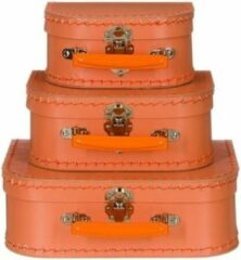Merkloos / Sans marque Kinderkoffertje pastel oranje 16 cm