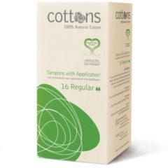 Cottons Tampons met inbrenghuls regular 16 Stuks