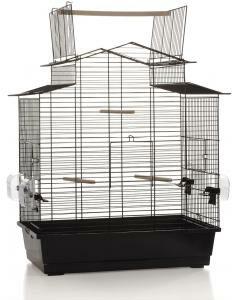 Afbeelding van Zwarte Beeztees Pet Products Vogelkooi Big Iza 3 Open - Zwart - 59x38x65 cm