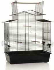 Zwarte Beeztees Pet Products Vogelkooi Big Iza 3 Open - Zwart - 59x38x65 cm