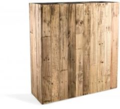 Bruine Maxifleur - Marrone High Box L Dark Flame Wood 93x33x100