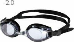 Lovetoswim.nl Zwembril op sterkte -2.0 (smoke)