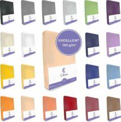 Cillows Excellent Jersey Hoeslaken voor Matras - 90x200 - 120x220 cm - (tot 35 cm hoogte) – Caramel