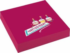 Bordeauxrode Amscan Servetten My Birthday Party 25 X 25 Cm Papier 20 Stuks