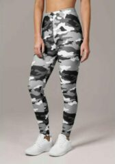 Urban Classics Leggings -3XL- Snow Camo Grijs/Wit