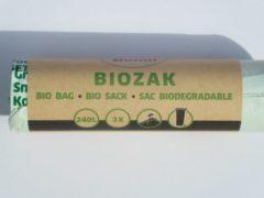 Merkloos / Sans marque Biozakken 240 liter groen 115x140 cm composteerbaar - Rol 3 stuks